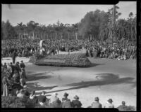 Stanford University float in the Tournament of Roses Parade, Pasadena, 1935
