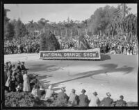 """Arrowhead Legend"" float in the Tournament of Roses Parade, Pasadena, 1935"
