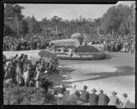 Ford Dealers float in the Tournament of Roses Parade, Pasadena, 1935