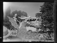 """Vikings"" float in the Tournament of Roses Parade, Pasadena, 1935"