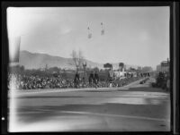Tournament of Roses Parade on Colorado Blvd. seen from St. John Ave., Pasadena, 1935