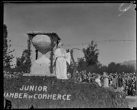 """""""Legend of Father Time"""" float in the Tournament of Roses Parade, Pasadena, 1935"""