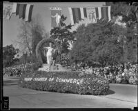 """Moon Gate"" float in the Tournament of Roses Parade, Pasadena, 1935"