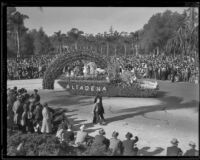 """Iris and the Rainbow"" float in the Tournament of Roses Parade, Pasadena, 1935"