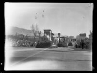 """Legend of Father Time"" float in the Tournament of Roses Parade, Pasadena, 1935"
