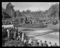 """Martha"" float in the Tournament of Roses Parade, Pasadena, 1935"