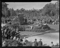 """Sirens"" float in the Tournament of Roses Parade, Pasadena, 1935"