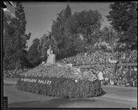 Angeles Forest Highway float in the Tournament of Roses Parade, Pasadena, 1935