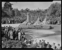 """Rainbow Fleet"" float in the Tournament of Roses Parade, Pasadena, 1935"