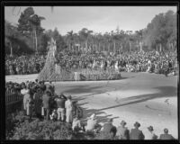"""Birds of Paradise"" float in the Tournament of Roses Parade, Pasadena, 1935"