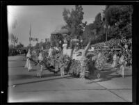 """Firebird"" float in the Tournament of Roses Parade, Pasadena, 1935"