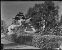 """Celestial Dragon"" float in the Tournament of Roses Parade, Pasadena, 1935"