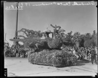 """Roc"" float in the Tournament of Roses Parade, Pasadena, 1935"