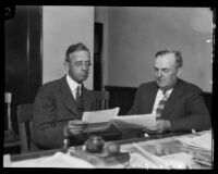 California State Chamber of Commerce officials Arthur S. Bent and C.C. Teague, [1932?]
