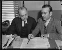 Mexican consuls Joaquin Terrazas and Alejandro V. Martinez, Los Angeles, 1935