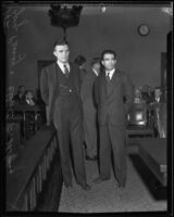 Attorney George Penney with his convicted client Elliot B. Thomas, Los Angeles, 1932