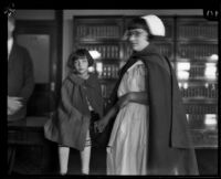 Seven-year-old Alsa Thompson confesses to murders, Los Angeles, 1925