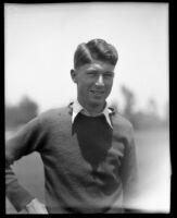 Bud Thompson, amateur golfer, Los Angeles, 1932