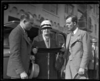 W. H. Watson and stunt driver Hayward Thompson, Los Angeles, 1927