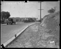 Councilman Edward L. Thrasher's home on Weldon Avenue, viewed at a distance, Los Angeles, [1932]