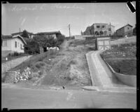Councilman Edward L. Thrasher's home on Weldon Avenue, viewed from Andrita Street, Los Angeles, [1932]