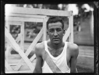 Track athlete with Pomona College, Los Angeles, 1932