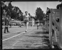 Olympic Club and USC athletes at a track meet, Los Angeles, 1932