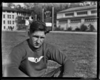Ralph Hill at an Olympic Club track meet, Los Angeles, 1932