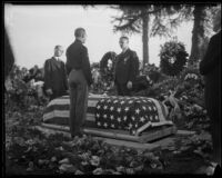 William Traeger's funeral at Rosedale Cemetery, Los Angeles, 1935