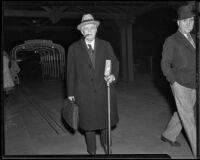 Alaska Governor John W. Troy visits Long Beach, 1935