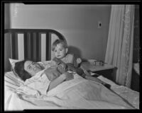 Lucille Truesdell and her 20-month-old son Myron, Los Angeles, 1935