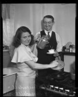 Lucille Truesdell recovers with husband Harry Truesdell, Los Angeles, 1935
