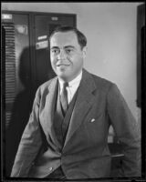 State Senator Tallant Tubbs, Los Angeles, 1930