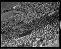 University of Southern California graduation ceremony at Olympic Stadium, Los Angeles, 1932