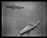 Heavy cruisers, the USS San Francisco and the USS New Orleans, Southern California, 1935-1939