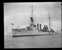 Navy's USS Richmond light cruiser, San Pedro, 1923-1939