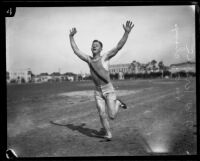 Navy track and field champion F. W. Krause, 1925.