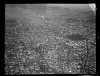 Aerial view possibly in the vicinity of San Pedro Harbor