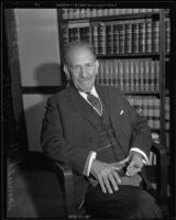 Nationally renowned New York attorney Samuel Untermyer, Los Angeles, 1935.