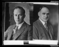 Portraits of J. B. Ransom, and Judge Dudley Valentine