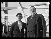 Author Hendrik Van Loon and his wife, Helen Criswell, Los Angeles, 1931