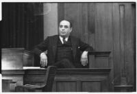 Director Robert Vignola testifying in court, Los Angeles, 1930