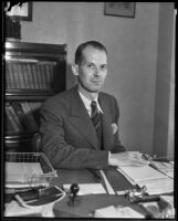 Portrait of interim French Consul Lionel Vasse in Los Angeles, 1935