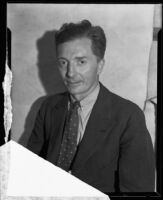 Portrait of Charles Veil, author and adventurer, 1934