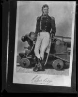 Portrait of William Bainbridge displayed in the museum on the USS Constitution, San Pedro, 1933