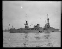 Navy's heavy cruiser the USS Augusta, San Pedro, 1931-1933