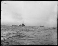 Navy battleships, Southern California, 1933