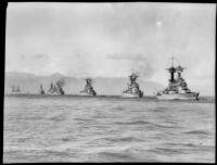 Nayv battleships, San Pedro Bay, 1927