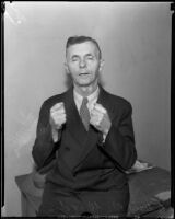 Angelus Temple church usher Edwin Ward accused of assaulting a teenage girl, 1935