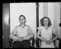 Milo Warner and Ruth Borman awaiting release from jail, Los Angeles, 1932
